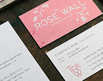 The Rose Wall Restaurant Branding
