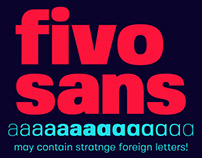 Fivo Sans Typeface | Free Font Family