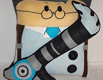 Handmade Team Fortress 2 BLU Medic v1.43 Plush Pillow