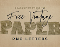 Free Vintage Paper PNG Letters