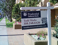 Prudential California Realty yard sign