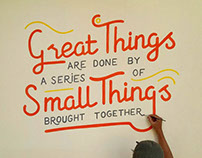 Hand Lettering Mural for Akvo Office