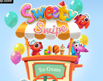 Promo art for Sweety Swipe IOS game