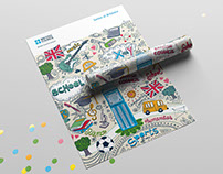 Materiales fiesta de antiguos alumnos. British Council
