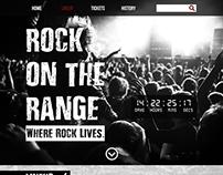 Rock on the Range Website Design
