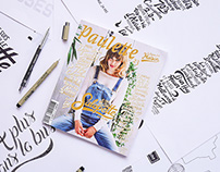 "// Illustration & Typography ""Paulette Magazine #23"" //"