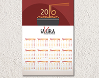 Wall calendar for Chinese restaurant