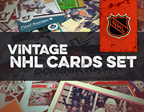Vintage NHL Player Cards Set