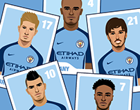 Manchester City FC product illustrations