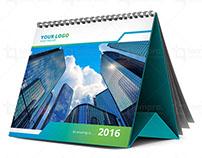 2016 Cyan/Green Desk Calendar