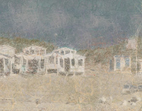 Beach cabins neural network style.