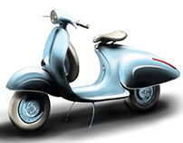 New retro vespa concept
