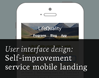 Self-improvement service mobile landing