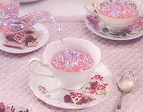 Glitter Peachy Tea