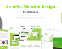 Website Template designs for CloudDesigns