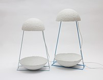 Lamps made from recycled paper