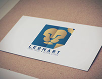Leonart studio & print house Logo design and stationery
