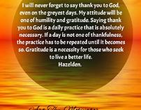 Gratitude to God daily meditations.