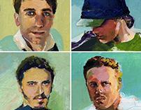 Du magazine portraits coloured