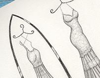 'Traci' - Wedding Dress Illustration