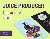 Juice Producer Business Card