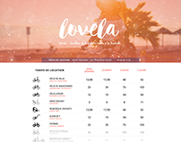 Website for Lovela, bike renting company.