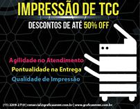Folheto Frente e Verso -  Impressão de TCC