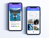Travel App UI Design Idea Exploration
