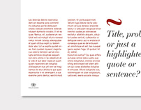 Identity & Powerpoint Template Design