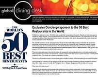 LesConcierges Global Dining Desk Newsletter