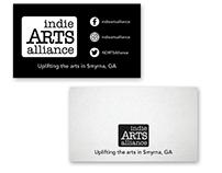 Indie Arts Alliance business card design