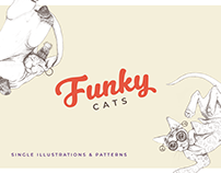 Funky Kitties - Illustrations and Patterns