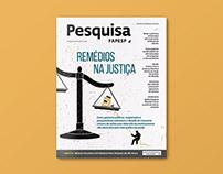 Remédios na Justiça – Pesquisa FAPESP magazine cover