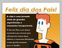 Newsletter e ilustração - Dia dos Pais Metatron