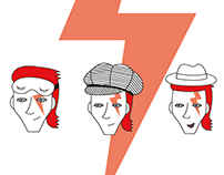 David Bowie travels across the USSR. Infographic