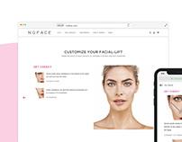 NuFACE SkinFit landing page and Navigation Design