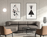Set of Abstract Geometric Art Posters