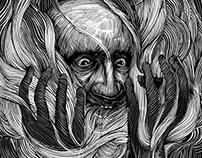 """""""Tragando humo"""" -  ilustración"""