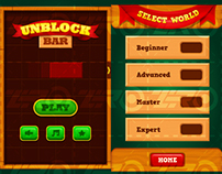 Unblock Bar game UI design