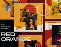 Red Orange - Social Media Template