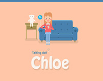 "Talking doll ""Chloe"""