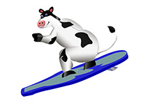 Surfing otis cow 3d
