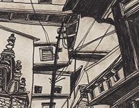 Город Серия графических работ