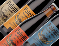 Pale Ale, 4 types of beer vector label template