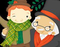 Adventure Theatre Season Illustrations
