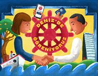 DENİZ'DE ÖĞRENİYORUZ - a banking board game