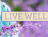 Live Well Branding – Lavender Concept
