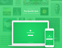 Spotify Quiz | Mobile/Web UI UX Design