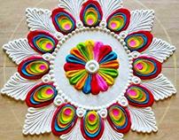 Beautiful Rangoli Design Floral