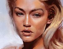 Portrait Study - Gigi Hadid